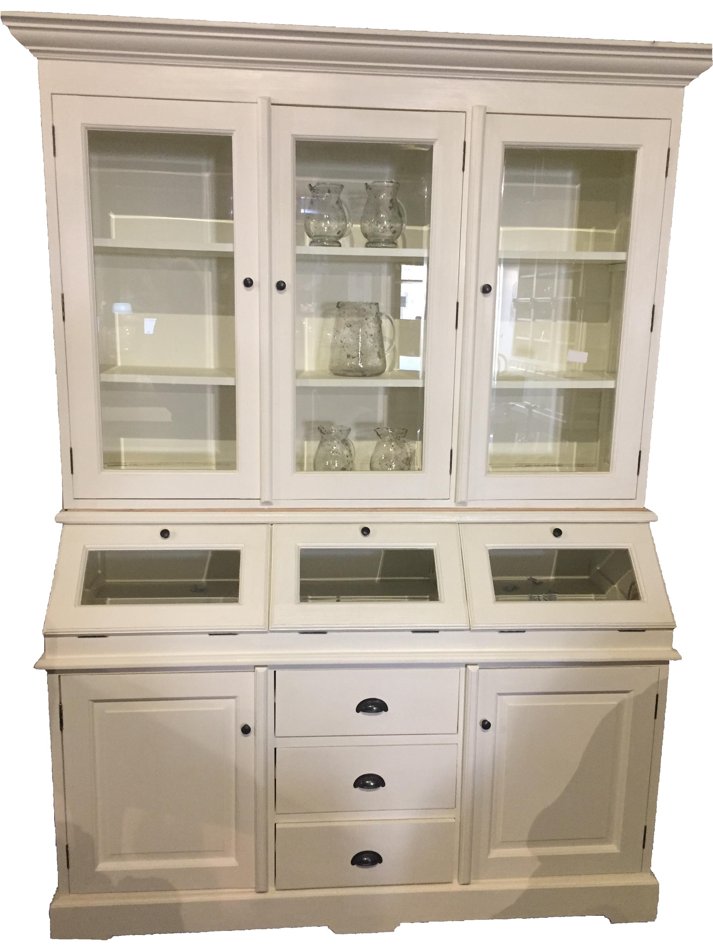 buffet schrank stina vintage teak im landhausstil 3 t rig. Black Bedroom Furniture Sets. Home Design Ideas