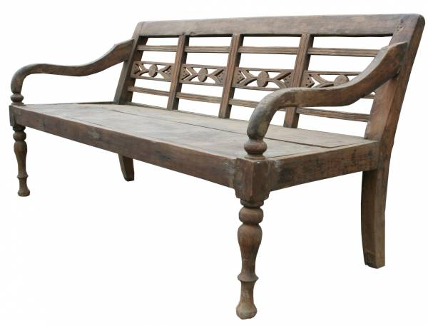 Teak Bank antik - Original Lounge Bank