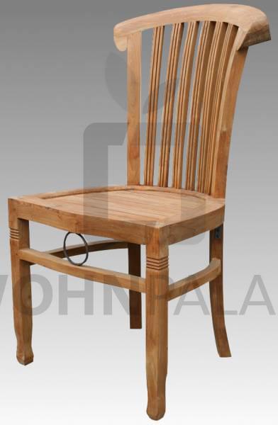 Stuhl Endang aus gebürstetem Teakholz