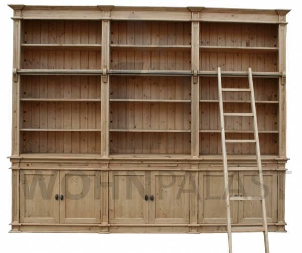 Bücherwand Klopstock im Landhaus Stil 300 cm