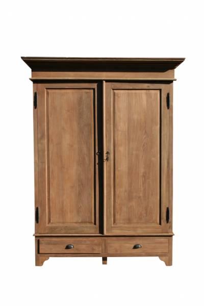 teak massivholz schrank 160 cm. Black Bedroom Furniture Sets. Home Design Ideas