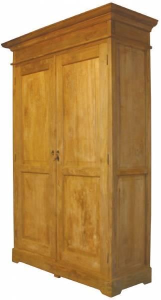 Kleiderschrank aus Teakholz mit 2 innenliegenden Schubladen