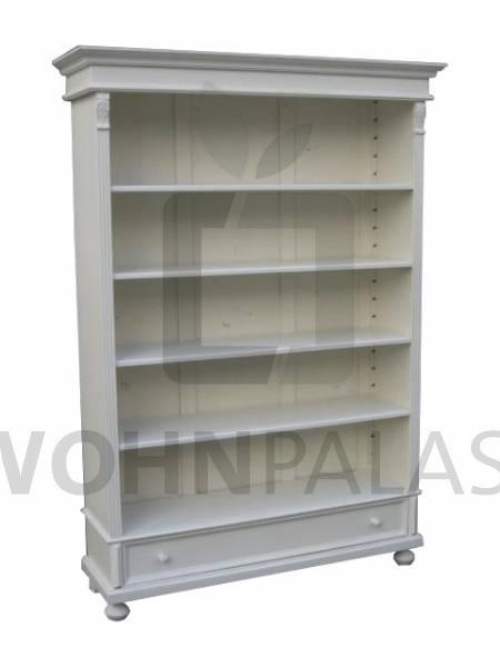 Bücherregal Eichendorff aus massivem Weichholz shabby chic weiß