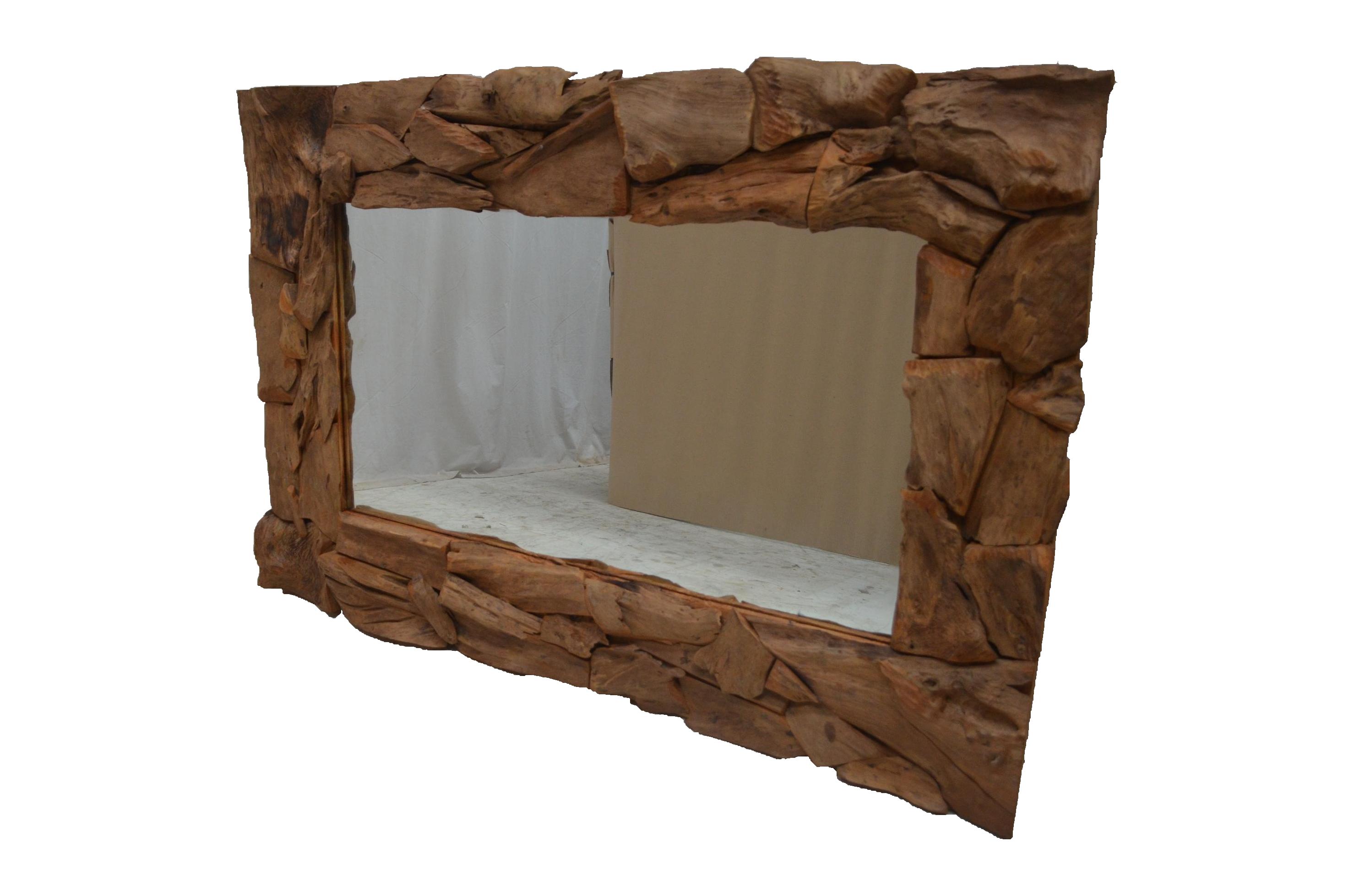 spiegel akar erosie aus teakholz wohnaccessoires by. Black Bedroom Furniture Sets. Home Design Ideas