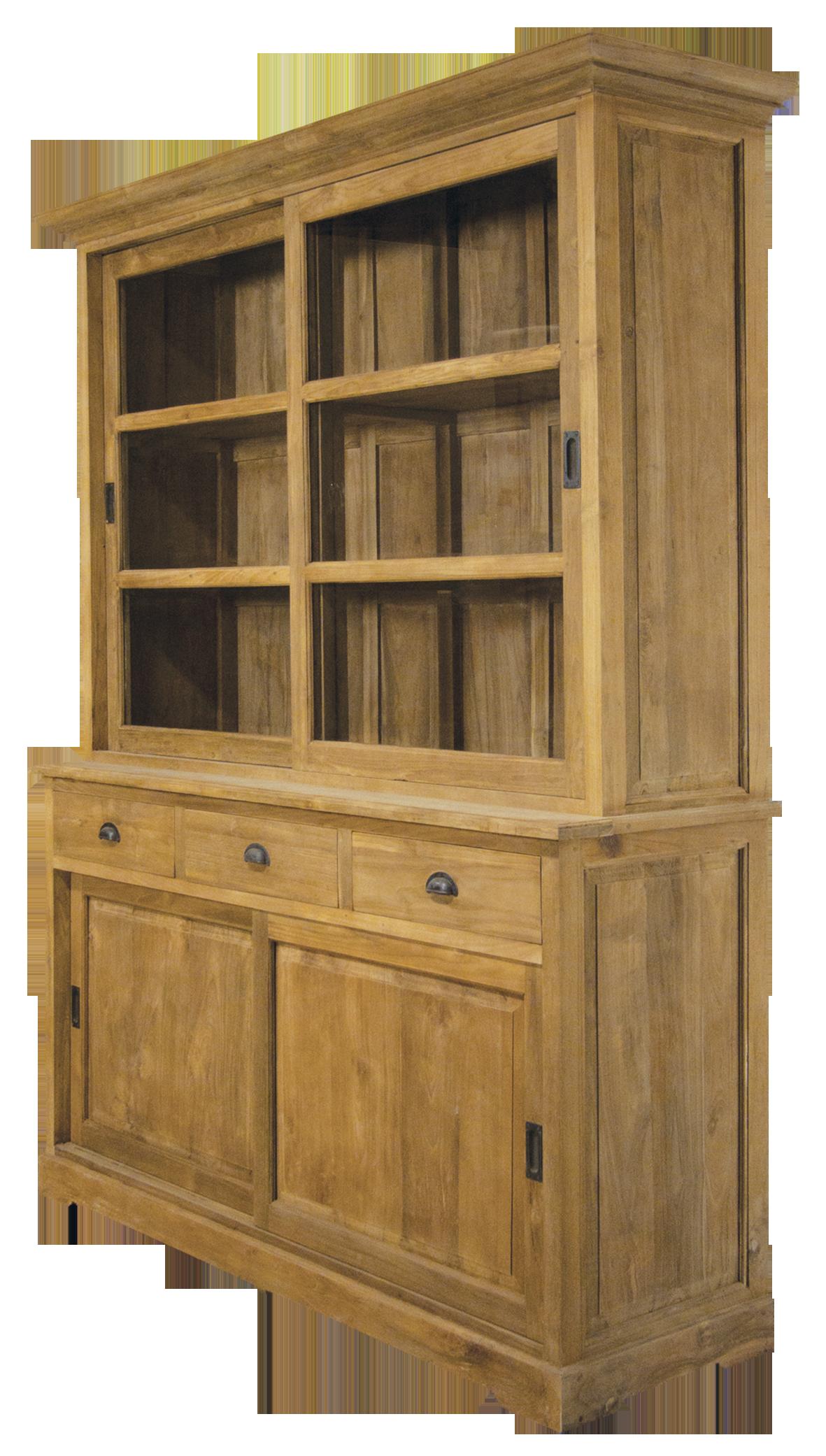 teak vitrine mit schiebet ren. Black Bedroom Furniture Sets. Home Design Ideas