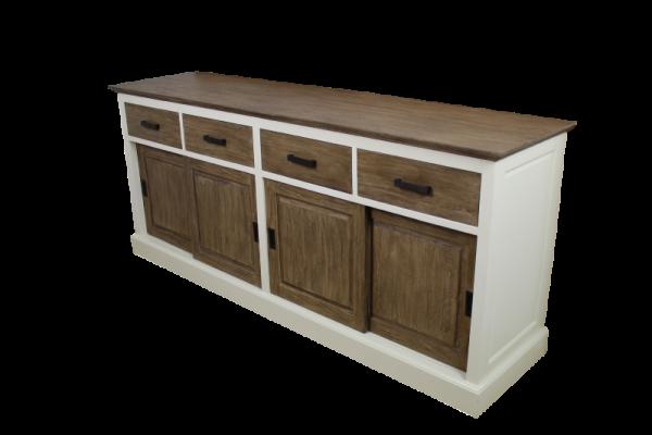 kommode hampshire 4t r wei rustikal. Black Bedroom Furniture Sets. Home Design Ideas