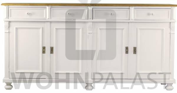 Sideboard weiß/natur mit vier Schubladen