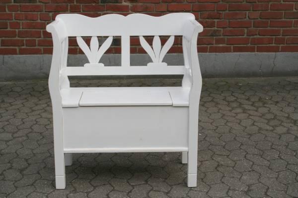 weichholz sitzbank shabby chic truhe bank vintage. Black Bedroom Furniture Sets. Home Design Ideas