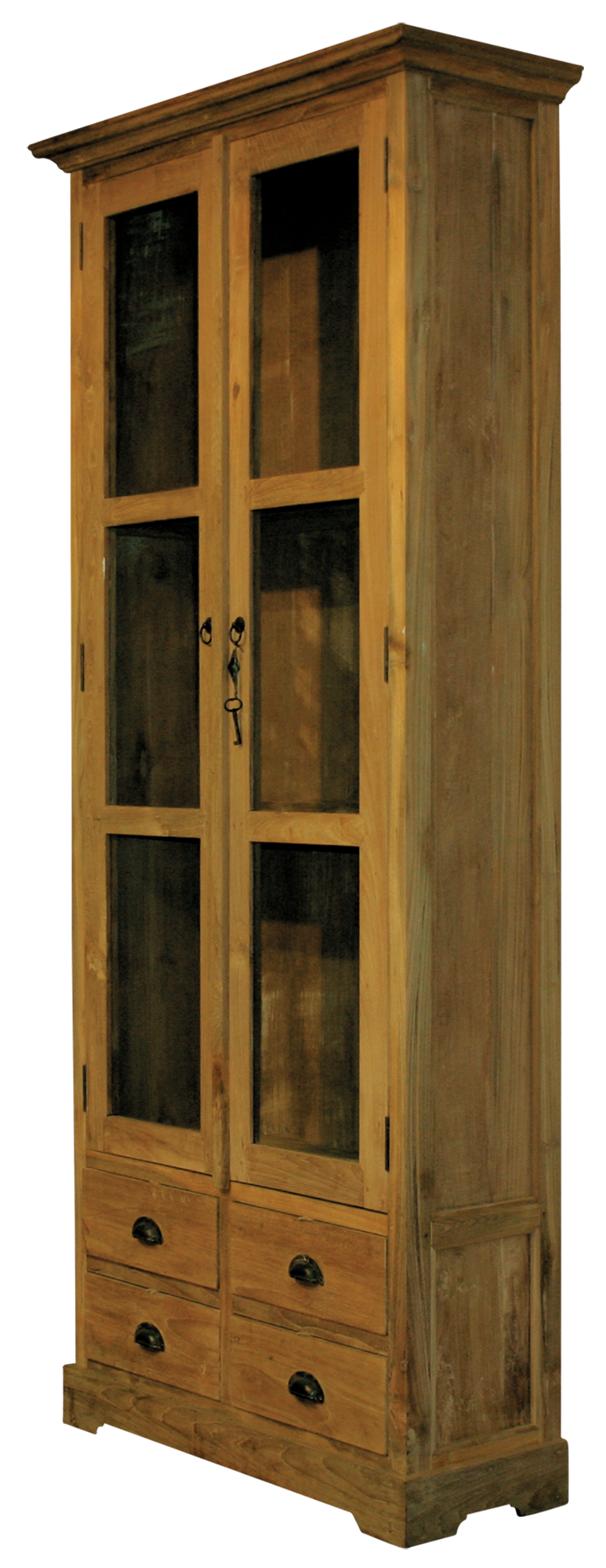 teak vitrine mit schubladen. Black Bedroom Furniture Sets. Home Design Ideas