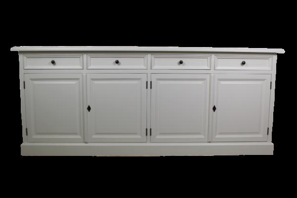 sideboard wei mit vier schubladen. Black Bedroom Furniture Sets. Home Design Ideas
