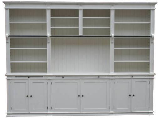 Bücherwand 320 cm weiß - Landhaus Stil