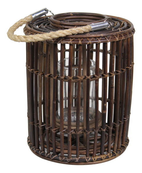 Laterne Zylinder- sarang brown - rattan