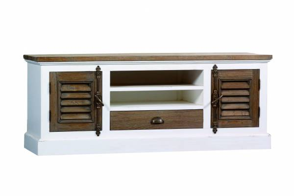 teak tv board shabby chic teak m bel bei. Black Bedroom Furniture Sets. Home Design Ideas