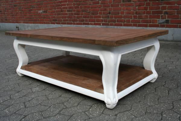 couchtisch vintage landhaus shabby chic teak altholz recycelt. Black Bedroom Furniture Sets. Home Design Ideas