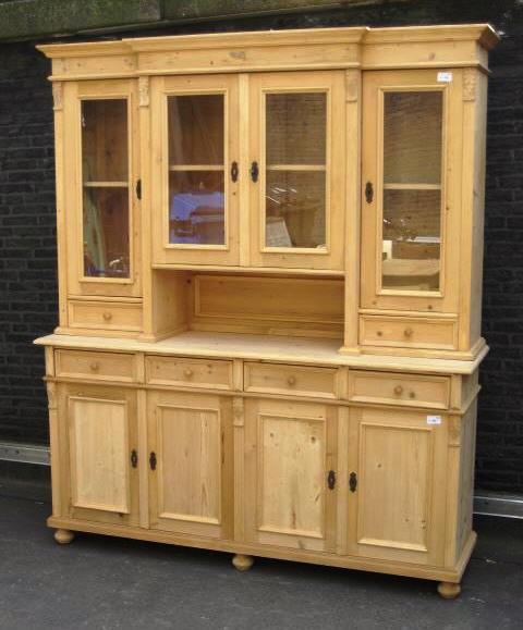 buffetschrank landhaus weichholz vitrinenschrank. Black Bedroom Furniture Sets. Home Design Ideas