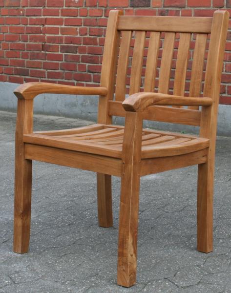 Teak Stuhl Beaufort - Gartenstuhl 6er Set