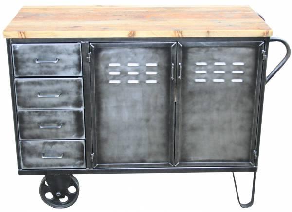 Vintage Industrie Kommode Mit Radern Vintagemobel Bei Wohnpalast De
