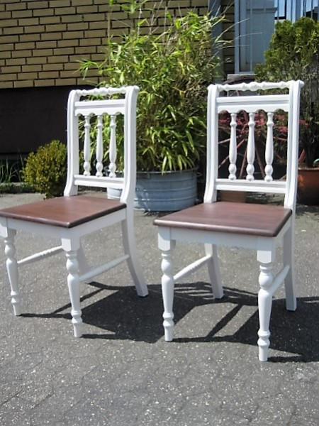 2 x esszimmer stuhl im landhausstil wei braun setpreis m bel wohnpalast m bel. Black Bedroom Furniture Sets. Home Design Ideas