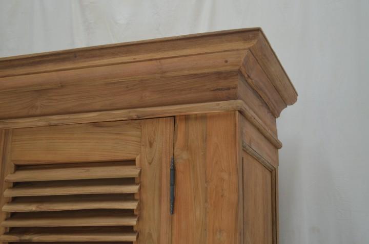 teak schrank riva louvre mit lamellent ren vintagem bel wohnpalast m bel. Black Bedroom Furniture Sets. Home Design Ideas