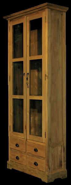 teak vitrine mit schubladen m bel wohnpalast m bel. Black Bedroom Furniture Sets. Home Design Ideas