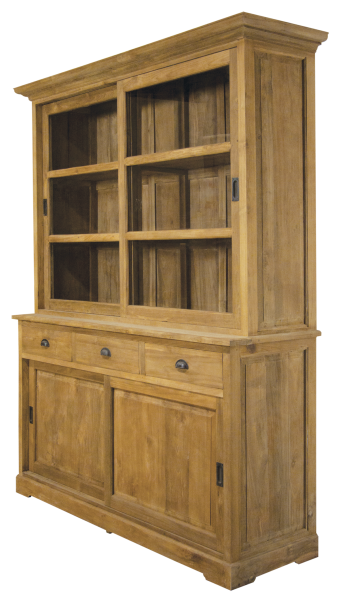teak vitrine mit schiebet ren m bel wohnpalast m bel. Black Bedroom Furniture Sets. Home Design Ideas