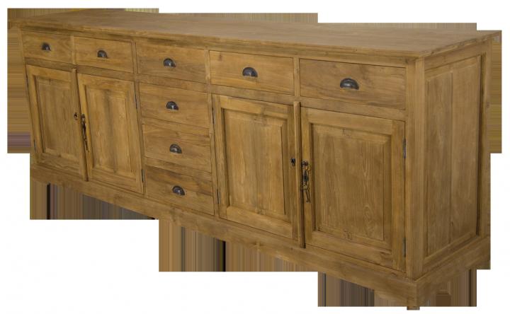 teak anrichte 250 cm im kolonialstil m bel wohnpalast. Black Bedroom Furniture Sets. Home Design Ideas