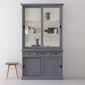 Ladenschrank Vincenza grau/weiß