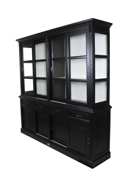 ladentheke 4 t r vitrinenschrank schwarz m bel wohnpalast m bel. Black Bedroom Furniture Sets. Home Design Ideas
