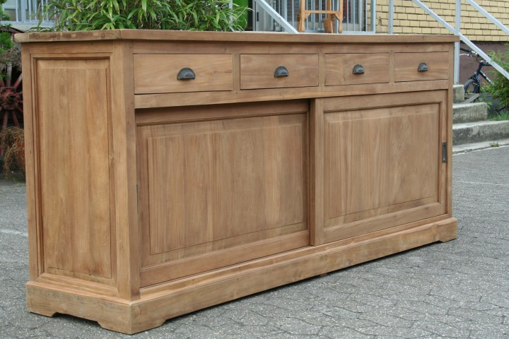 sideboard teak mit schiebet ren m bel wohnpalast m bel. Black Bedroom Furniture Sets. Home Design Ideas