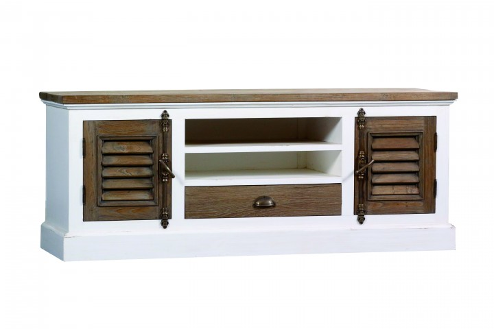 tv board teak shabby chic m bel wohnpalast m bel. Black Bedroom Furniture Sets. Home Design Ideas