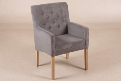 polsterstuhl bergen dunkel grau mit armlehnen sitzm bel wohnpalast m bel. Black Bedroom Furniture Sets. Home Design Ideas