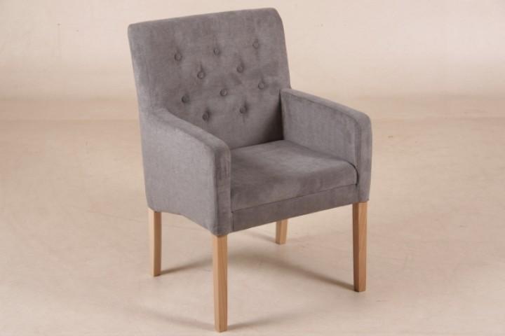 polsterstuhl bergen dunkel grau mit armlehnen m bel. Black Bedroom Furniture Sets. Home Design Ideas