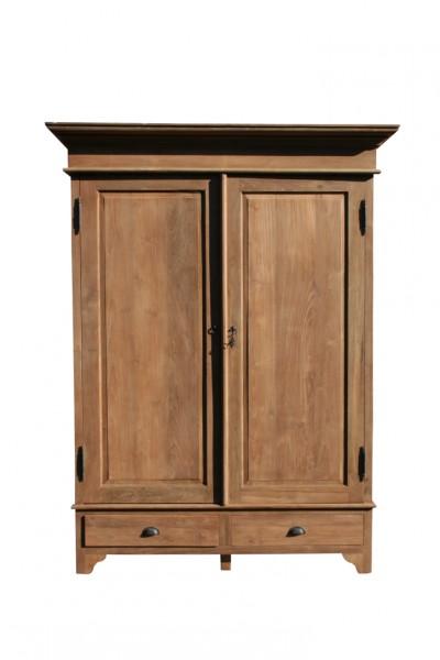Teak massivholz schrank 160 cm m bel wohnpalast m bel for Schrank 160 cm hoch