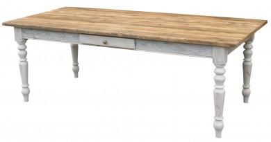 Gründerzeit Tisch Massivholz - antik braun shabby chic