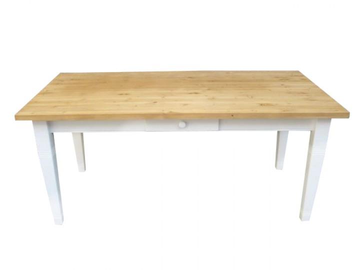 ... Möbel / Tische & Stühle / Landhaus Tisch Massivholz - gewachst-weiß