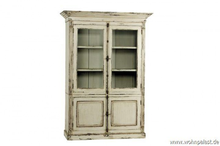 teakholz vitrine shabby chic vintagem bel wohnpalast m bel. Black Bedroom Furniture Sets. Home Design Ideas