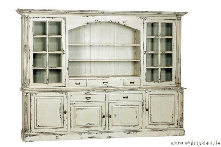 teakholz vitrinenschrank shabby chic vintagem bel wohnpalast m bel. Black Bedroom Furniture Sets. Home Design Ideas