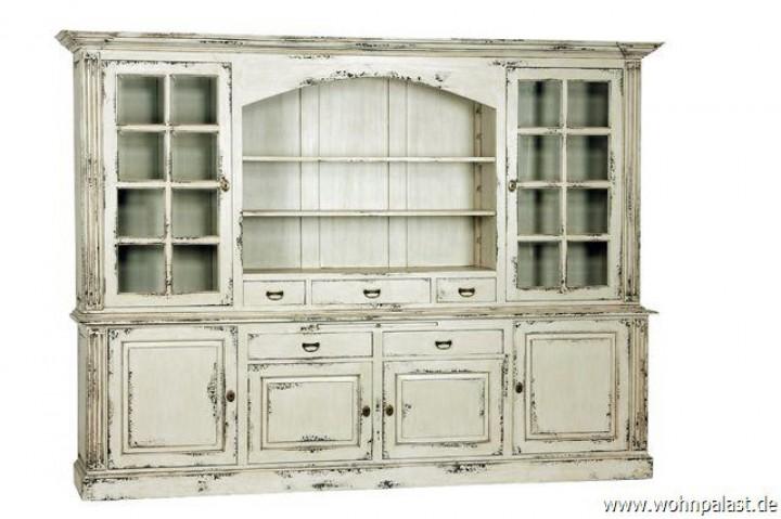 teakholz vitrinenschrank shabby chic vintagem bel wohnpalast m bel. Black Bedroom Furniture Sets. Home Design Ideas