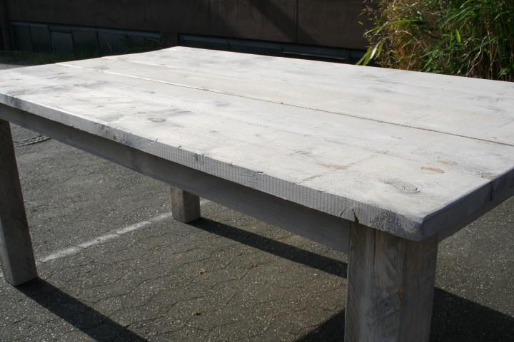 Polyrattan Gartenmobel Discount : Gartenmöbel Set aus Gerüst Bohlen  Tisch 180 und Bank 150 Shabby