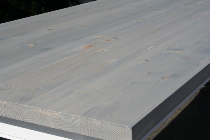 Landhaus Tisch Massivholz - Grau-weiß Tische - | Wohnpalast Möbel Esstisch Eiche Grau