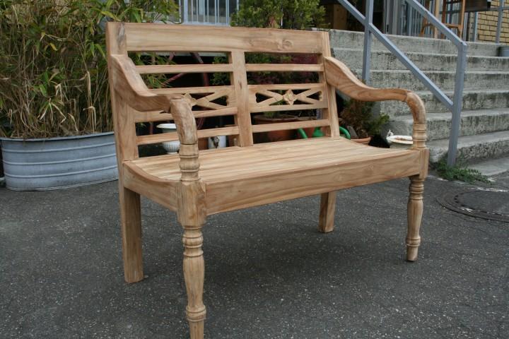 Teak Bank Garten 100 cm Teakmöbel -  Wohnpalast Möbel