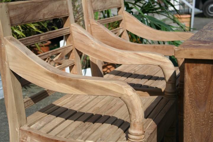 Gartenmobel Eisen Beschichtet : Gartenmöbel Set aus massivem Holz  Tisch, Stuhl, Bank aus Teakholz