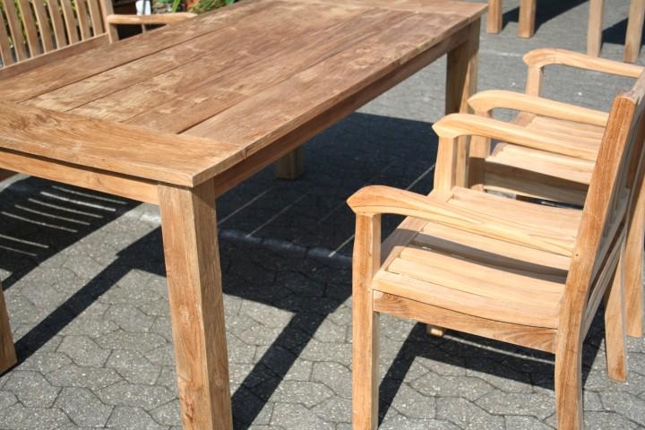 Gartenm bel set aus massivem holz tisch stuhl bank aus - Teakholz gartenmobel ...