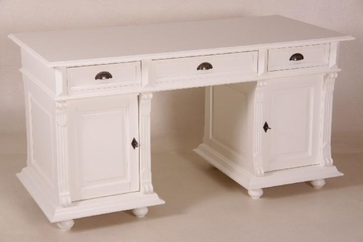 schreibtisch im landhaus stil farbe wei m bel wohnpalast m bel. Black Bedroom Furniture Sets. Home Design Ideas