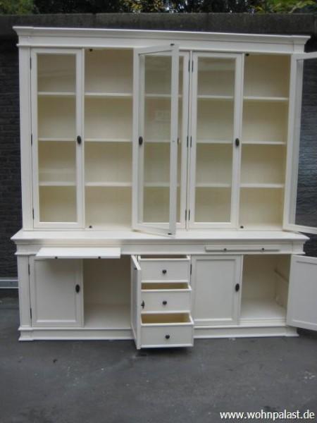 vitrinen schrank landhaus wei m bel wohnpalast m bel. Black Bedroom Furniture Sets. Home Design Ideas