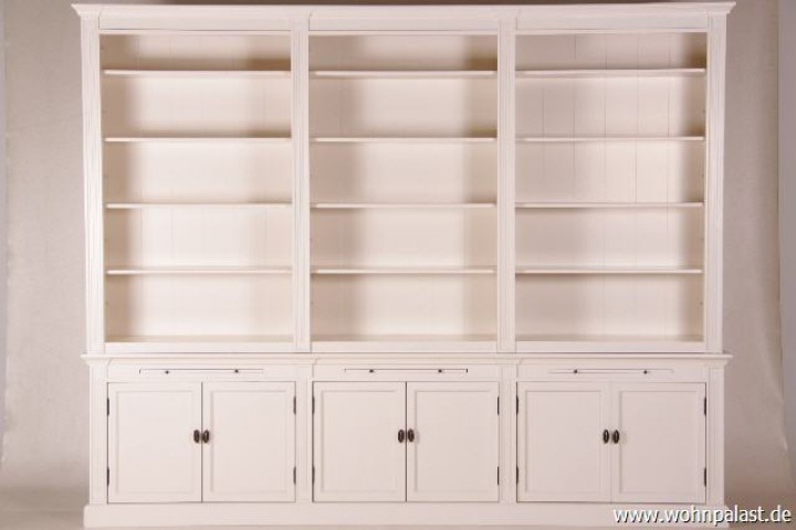 bibliothek landhaus creme m bel wohnpalast m bel. Black Bedroom Furniture Sets. Home Design Ideas