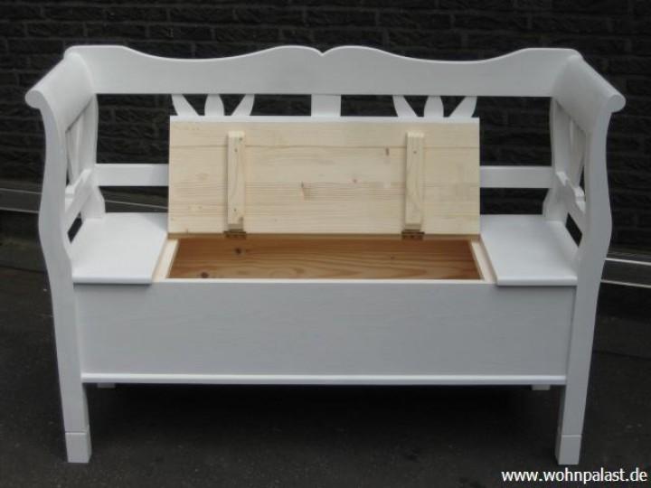 Truhenbank weiß 120 cm Möbel -  Wohnpalast Möbel
