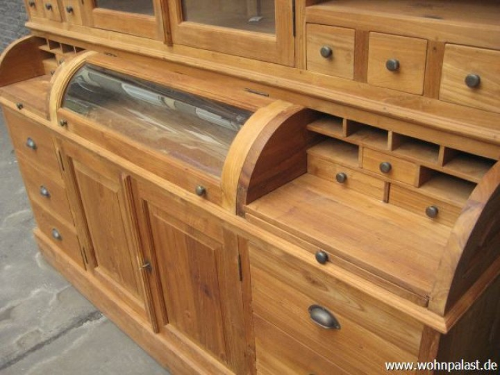 buffetschrank landhaus vitrine kommode schrank glast ren. Black Bedroom Furniture Sets. Home Design Ideas