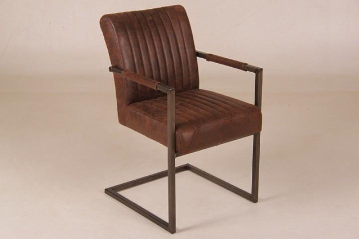Stuhl comba mit armlehne dunkelbraun m bel wohnpalast for Stuhl mit armlehne und rollen