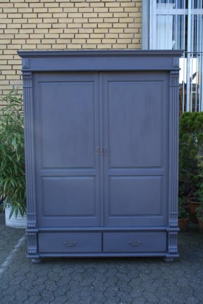 kleiderschrank shabby chic grau m bel wohnpalast m bel. Black Bedroom Furniture Sets. Home Design Ideas